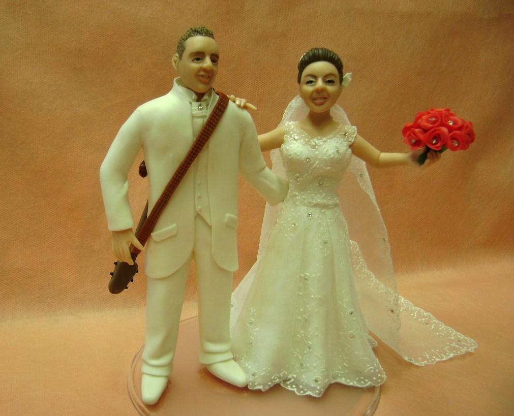 em biscuit personalizado bolo de casamento noivinhos em biscuit ...