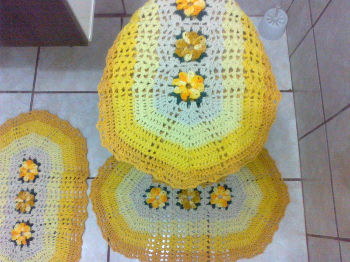 Jogo Para Banheiro Amarelo Jogo De Tapetes Para Banheiro Barbante #A39628 1200 900