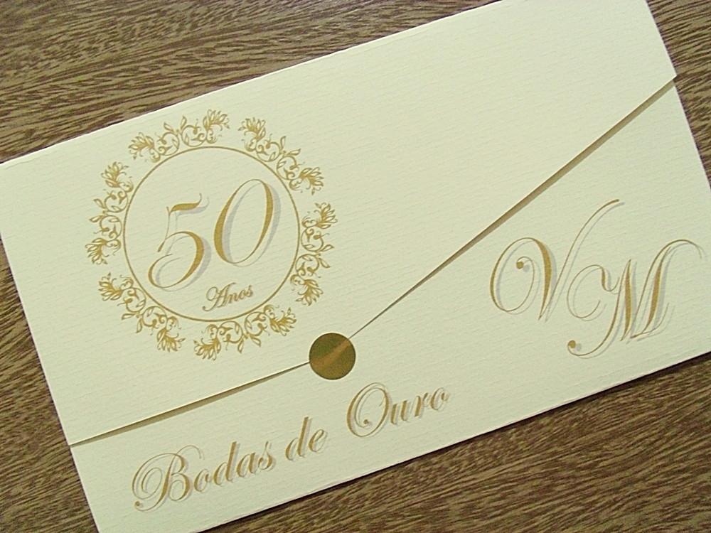 Quero Montar Meu Convite De 50 Anos: CONVITE BODAS OURO CANCUN No Elo7