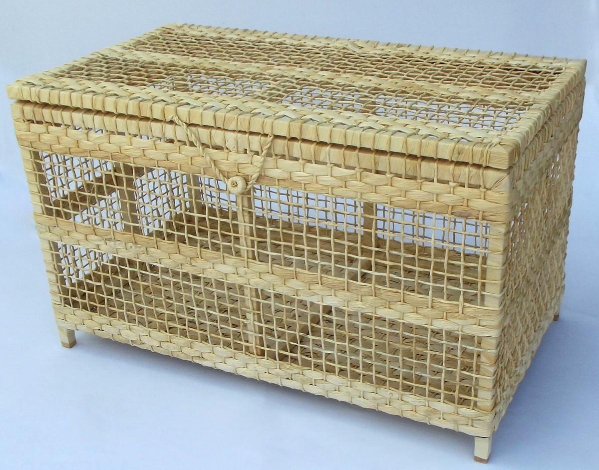 bau de madeira e palha 70x40x40 cesto de madeira cesto bau de madeira  #4D381B 1200x942