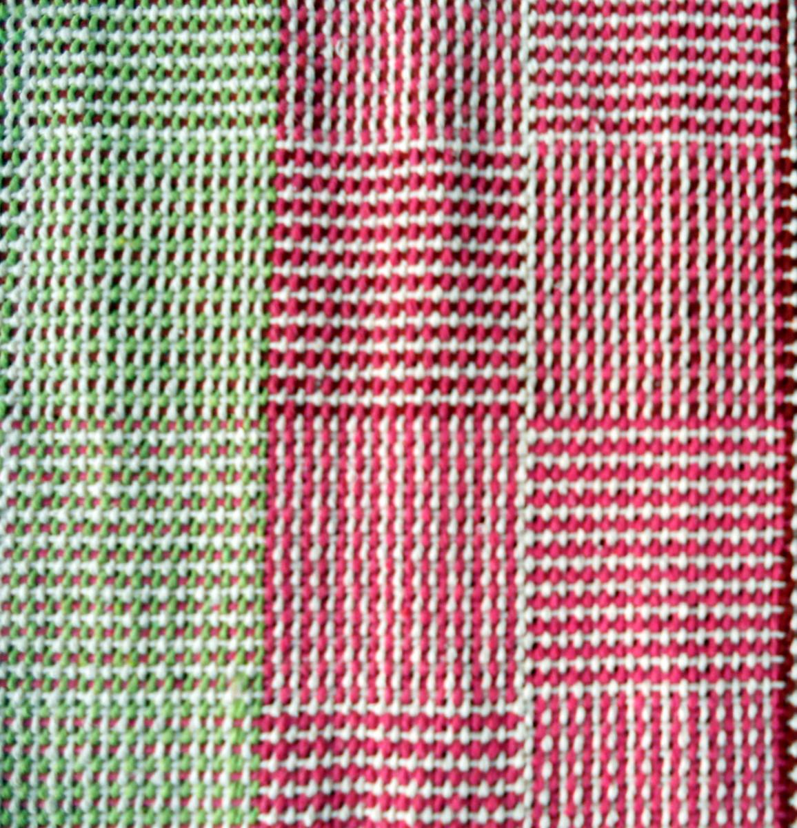 Tapete de Algodão Rosa e Verde Atelier Lídia Gelmetti Elo7 ~ Tapetes Verdes Para Quarto