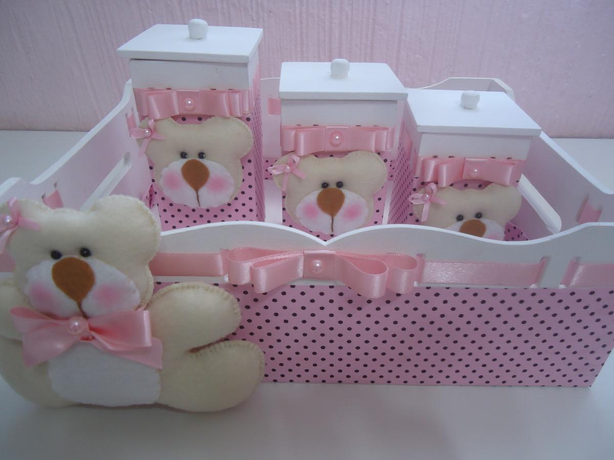 rosa marrom rosa e marrom kit higiene bebe ursa rosa marrom rosa e  #425E89 1200x900