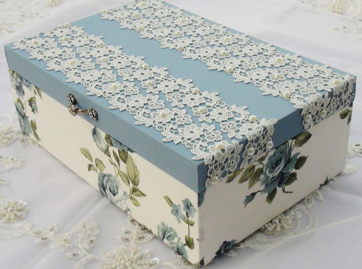 caixa em tecido caixa de biju ou padrinhos caixa de natl caixa de biju #3B4E59 1200x893
