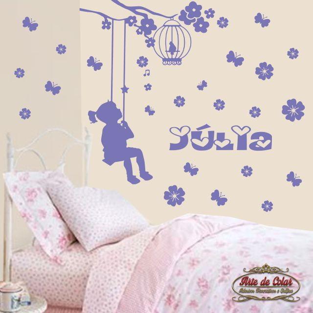 Adesivo de parede decorativo infantil 01 arte de colar - Papel decorativo infantil para paredes ...