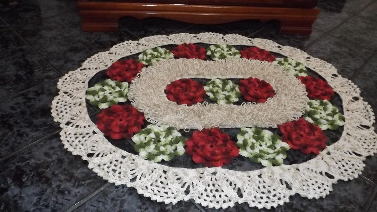 tapete em croche flores de jardim flores tapete em croche flores de