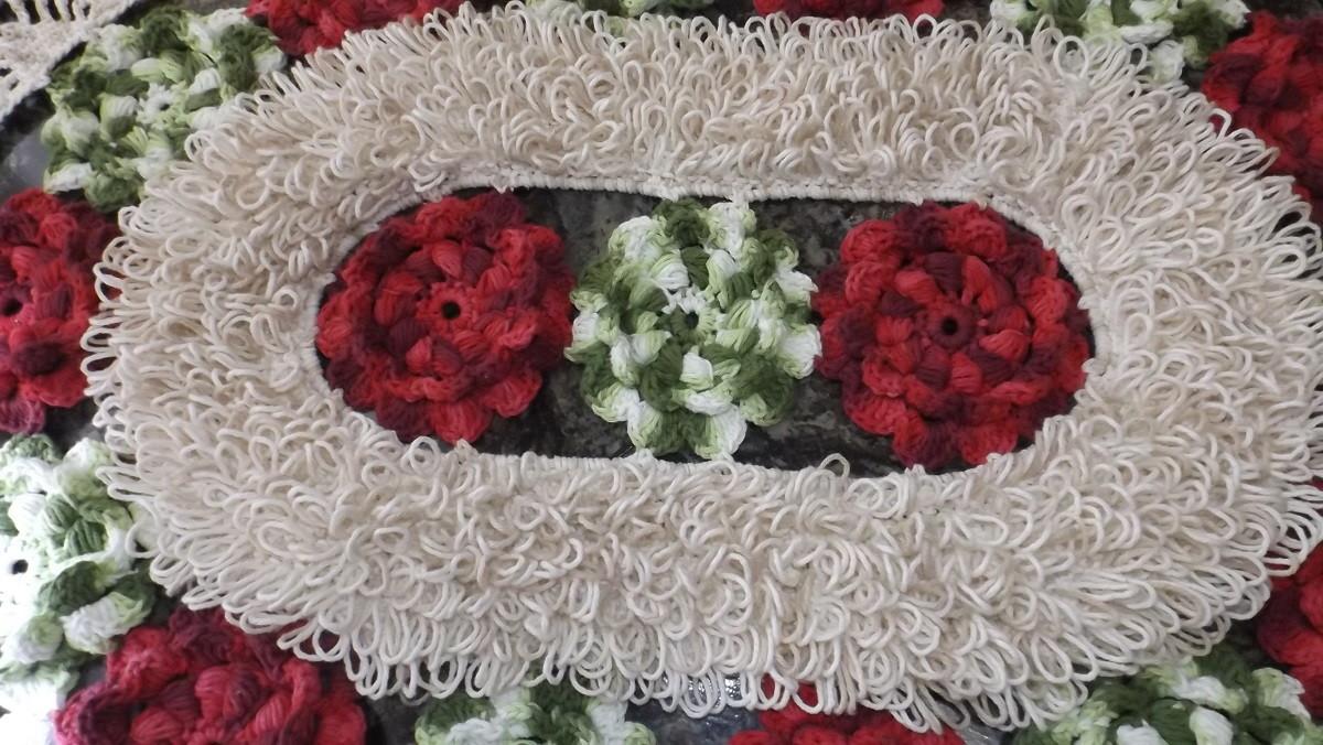 flores de jardim tapete em croche tapete em croche flores de jardim