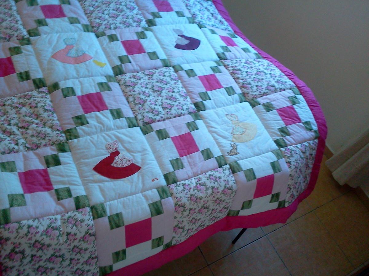 Capa de edredom patchwork plus