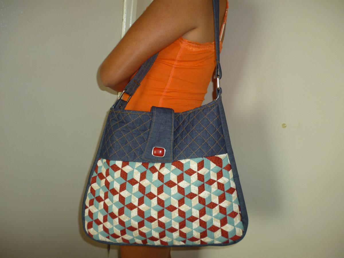 Bolsa Em Tecido Moldes : Projeto de bolsa patchwork by deise muller elo