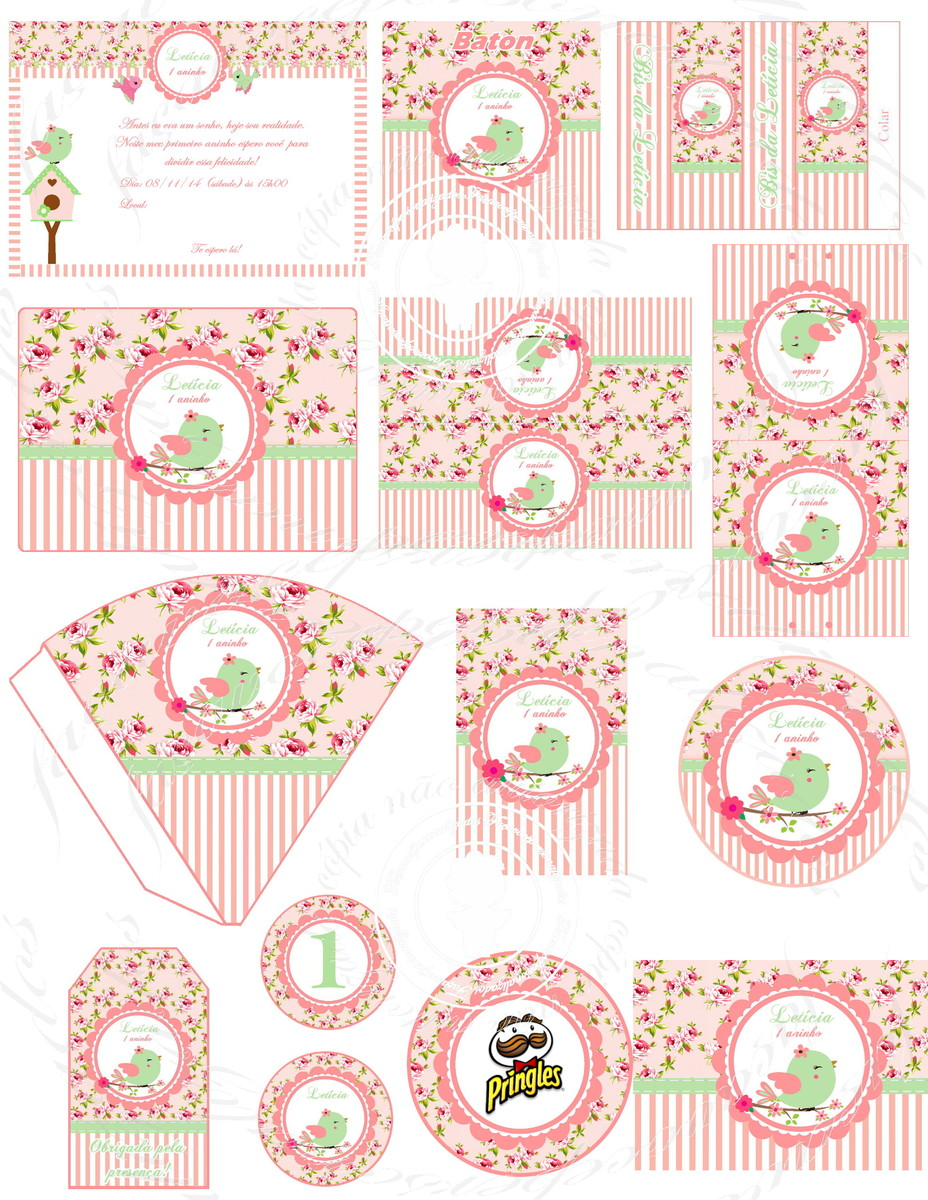 festa jardim verde e rosa