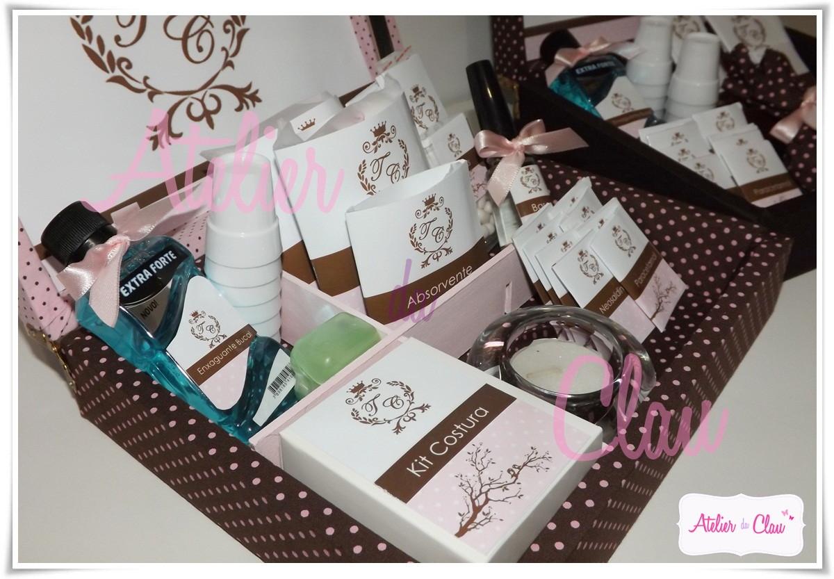 Kit Banheiro Casamento Luxo : Kit banheiro m luxo marrom e rosa atelier da clau elo
