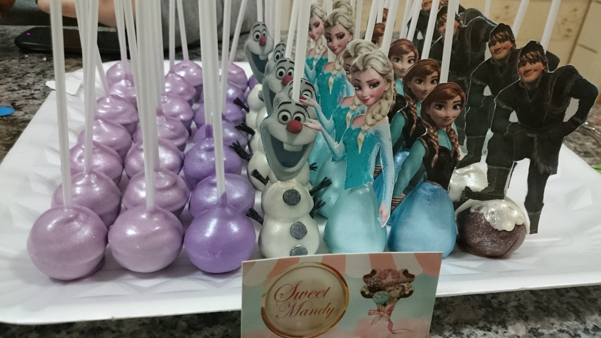 Images Of Frozen Cake Pops : Cake Pops Frozen Sweet Mandy Elo7