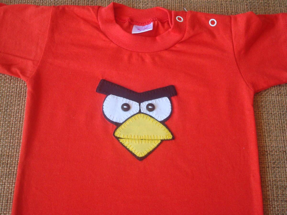 Body Mesversario Angry Birds Kit No Elo7: Mabel Ateliê (4C665B