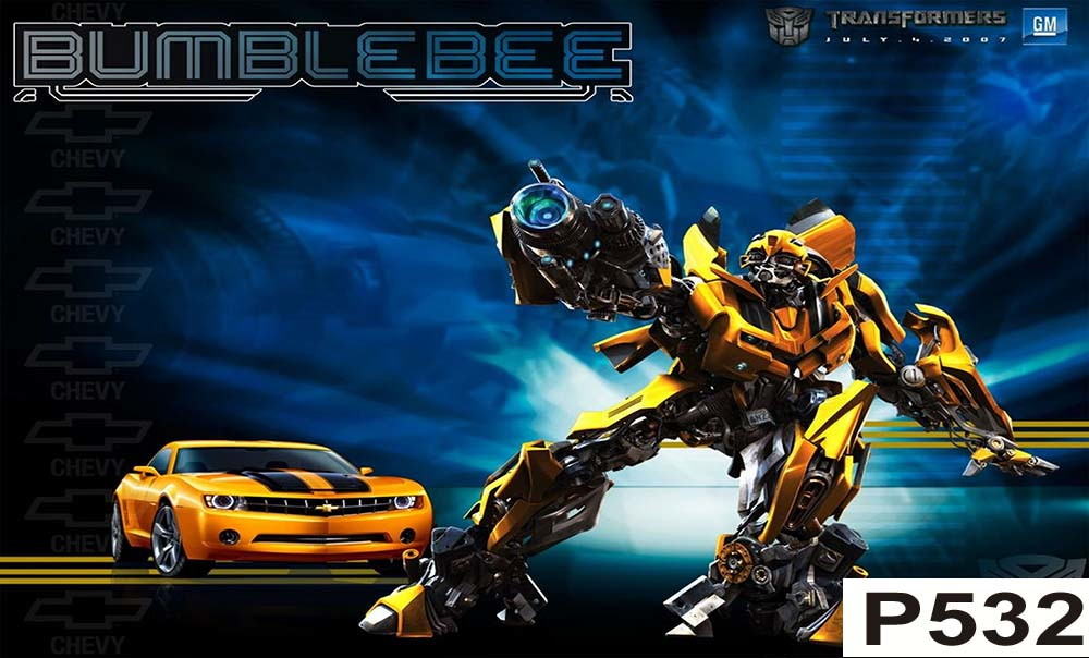 Painel Transformers bumblebee  CLIM CENTER  Elo7
