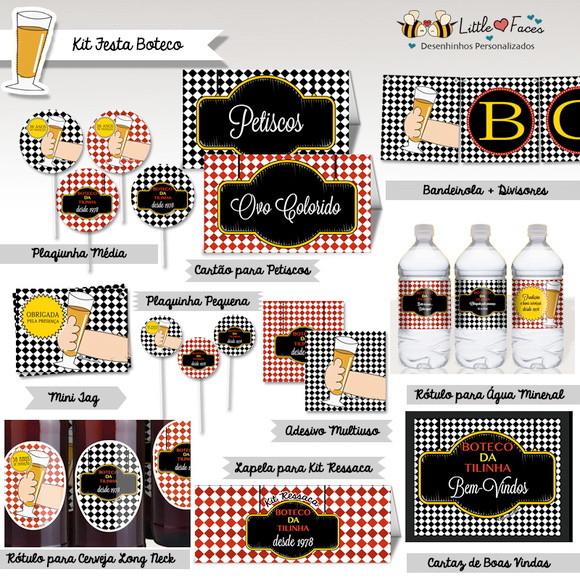 decoracao festa boteco personalizada:Início > Aniversário e Festas > Festa Boteco > Rótulo para Cerveja