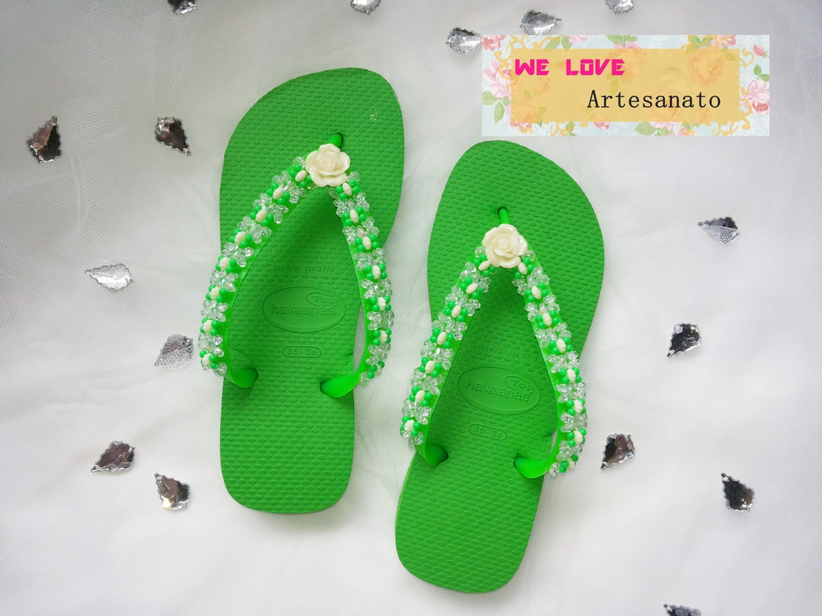 Chinelo Havaianas Bordado We Love Artesanato Elo7