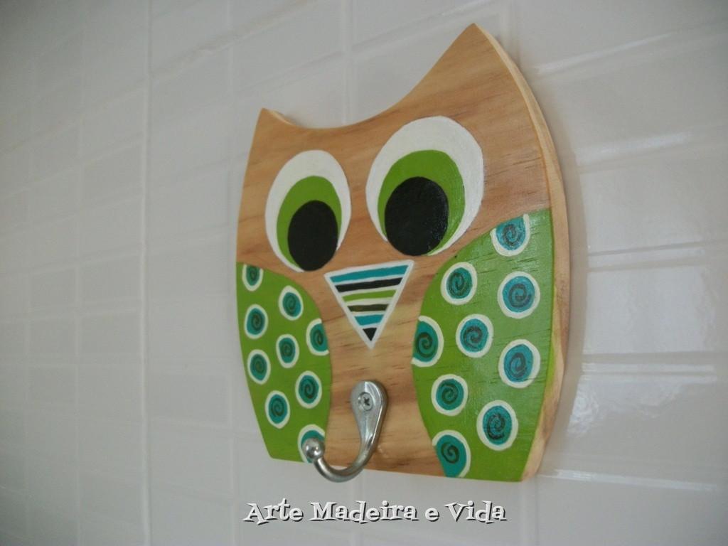 Pendurador Coruja arabesco verde Arte Madeira e Vida Elo7 #477126 1024x768