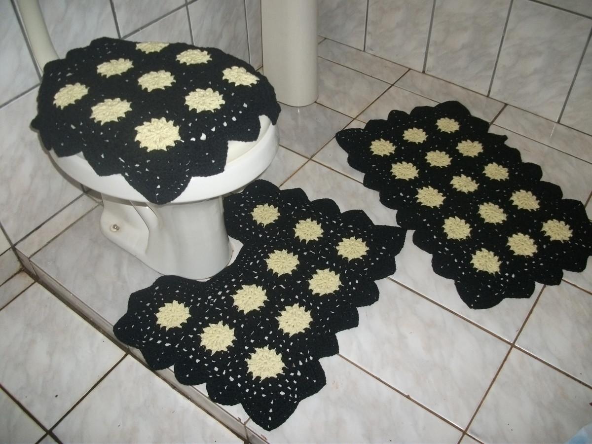 jogo de banheiro jogo de banheiro jogo de banheiro em croche #757056 1200x900 Banheiro Amarelo Com Preto
