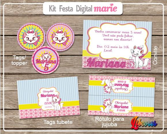 Aniversário E Festas > Kit Festa > Kit Festa Digital – Gatinha Marie~ Decoracao Festa Gatinha Marie