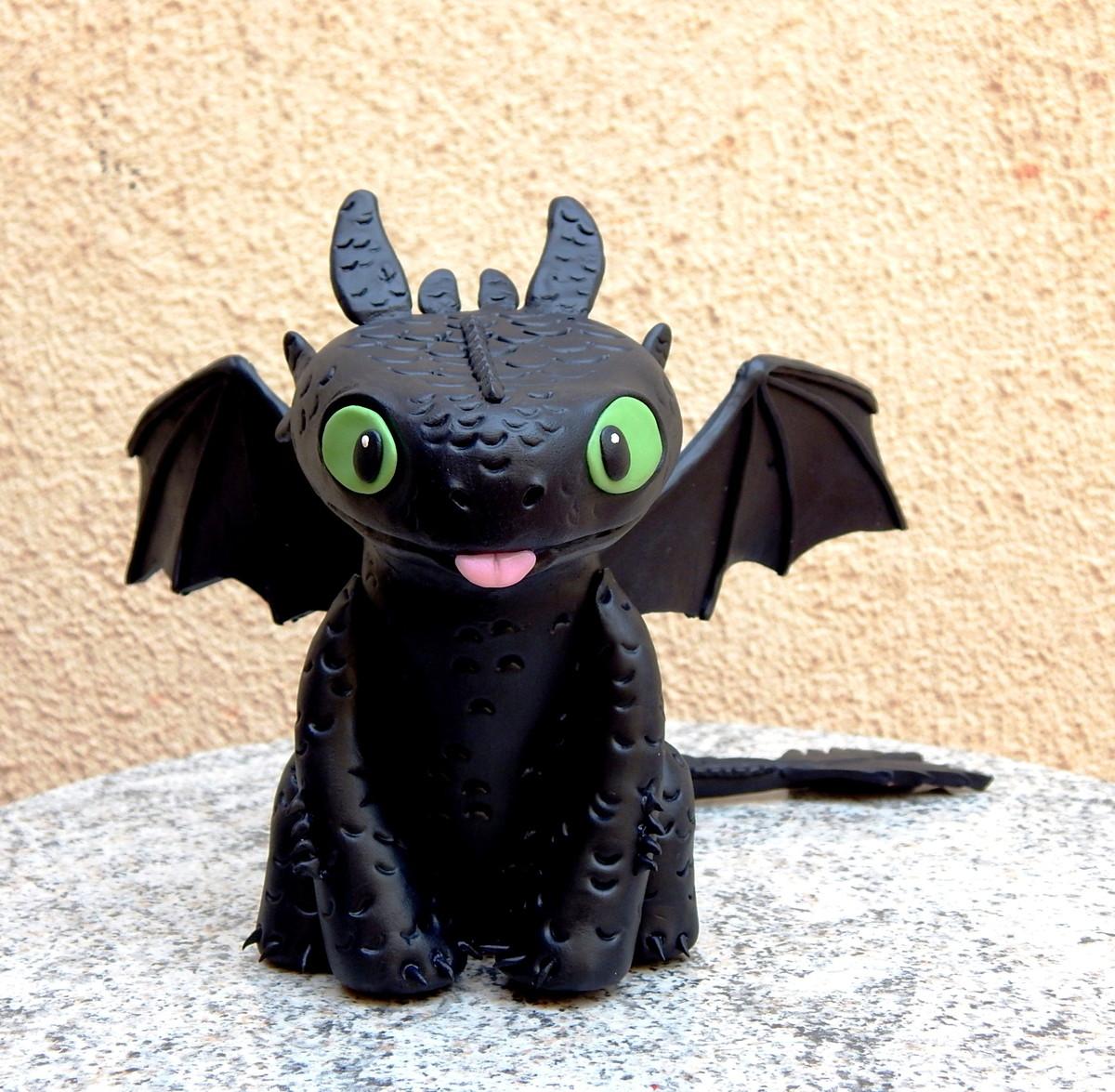 Enfeite dragão Banguela no Elo7 | Nathy Bijux - Artesanato