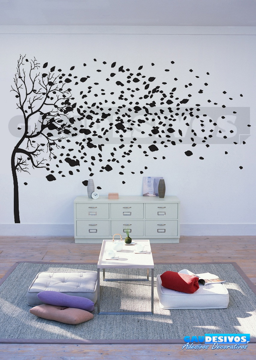 Adesivos decorativos de parede arvore gaudesivos elo7 for Papel de pared para pintar