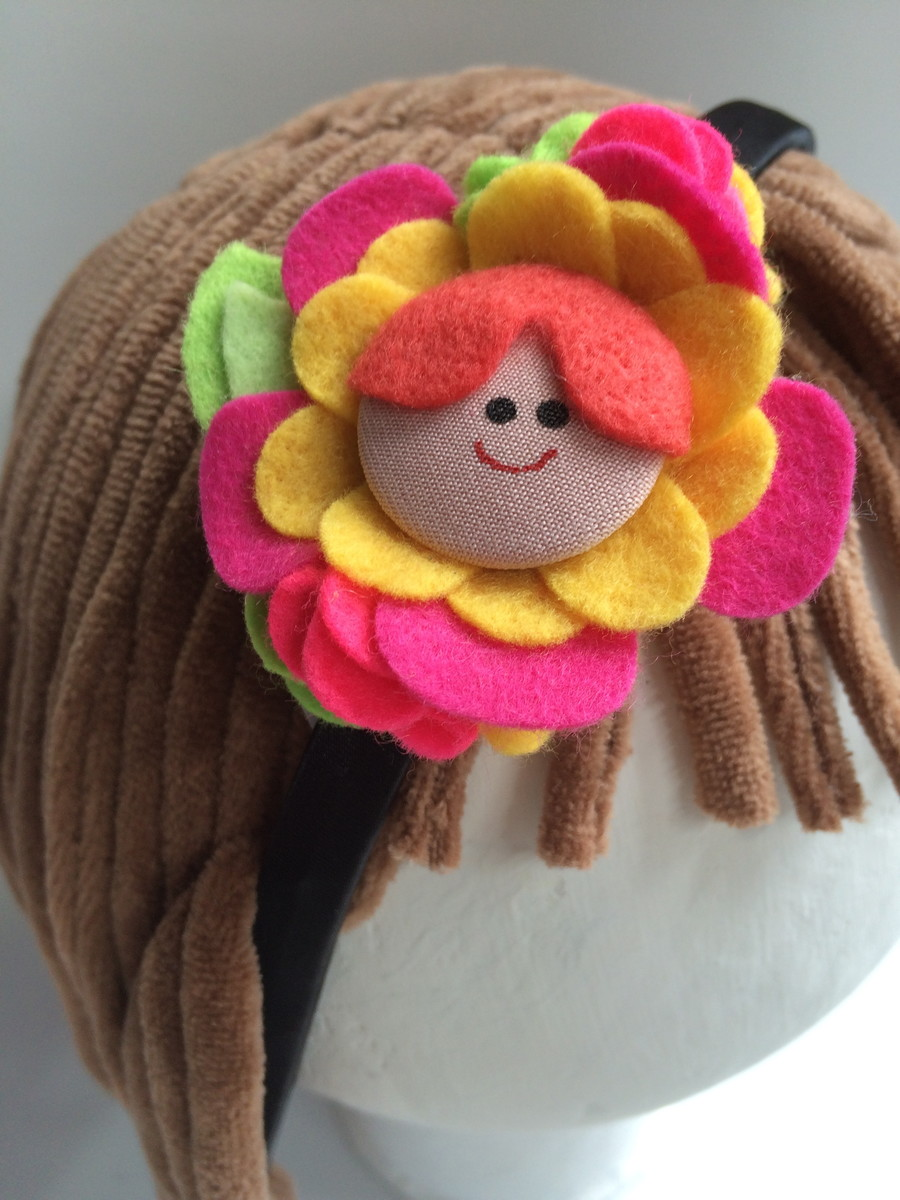 Enfeite De Tiara ~ Tiara Menina Flor Ana Tuyama crafts Elo7