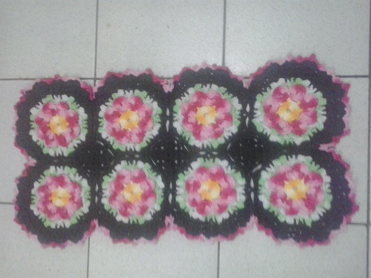 Tapete floral denise croche bordado elo7 for Tapete floral