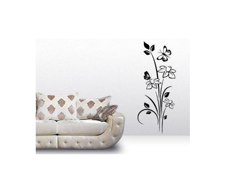 Artesanato Simples Com Eva ~ Adesivo floral vidro, parede, box, sala no Elo7