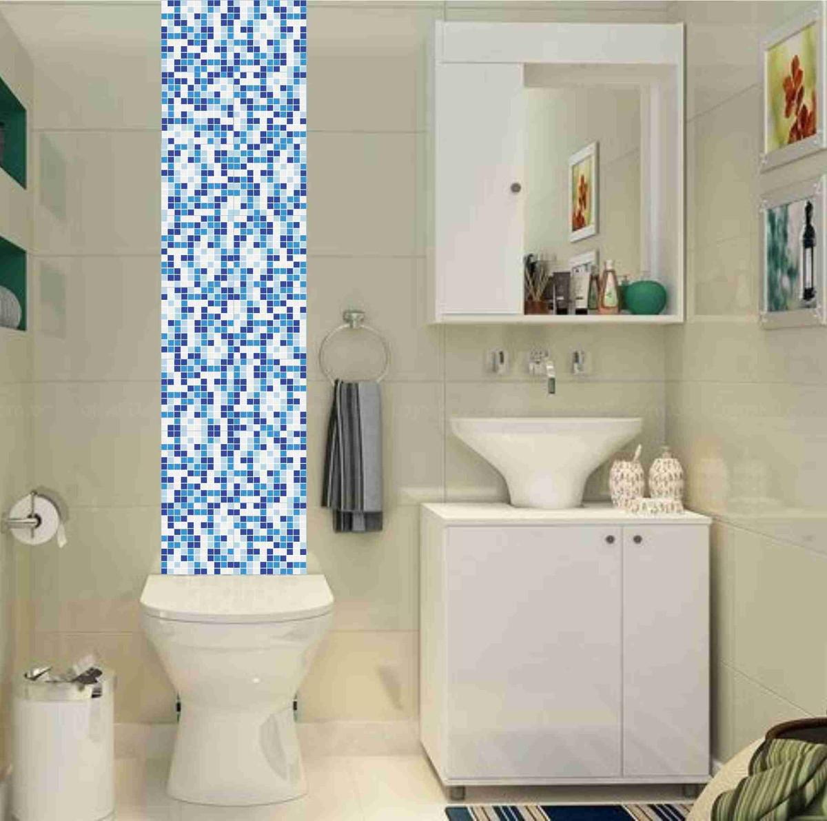 banheiro kit pastilhas azul bco frete gratis verde kit pastilhas azul #2E719D 1200x1191 Banheiro Branco Com Pastilhas Verdes