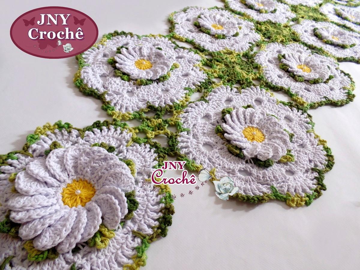 caminho-de-mesa-margaridas-caminho-de-mesa-de-crochet