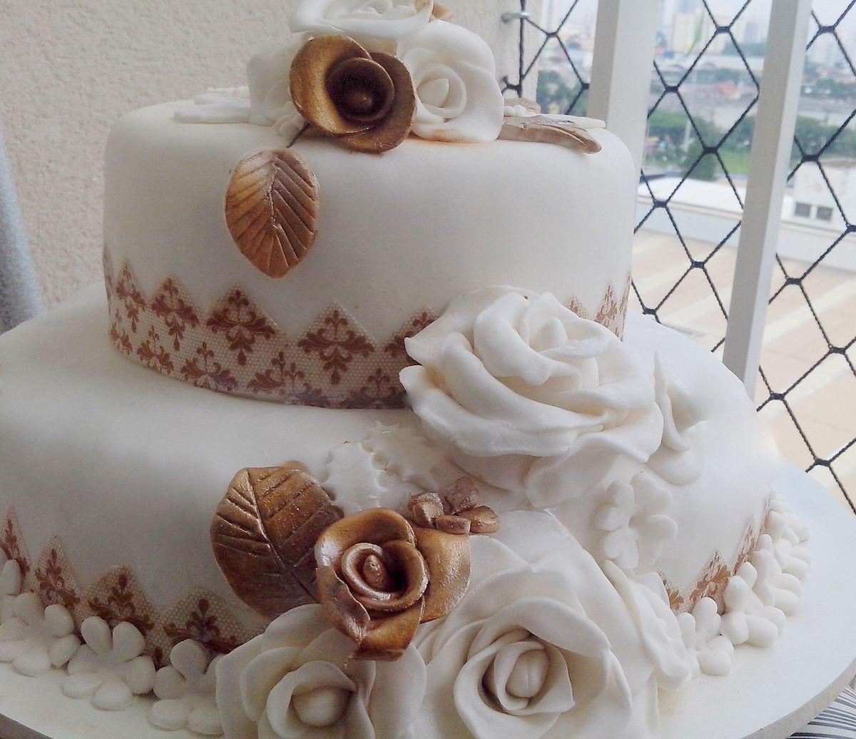 Bolos decorados para casamento abc cakes elo7 Fotos de aticos decorados
