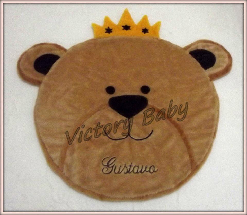 Tapete Urso Com Coroa Tapetes de Pelúcia Victory Baby  ~ Tapete Infantil Para Quarto Urso