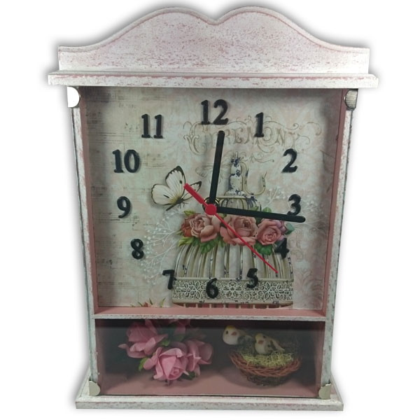 Aparador Zapatero Ikea ~ Relógio decorado vintage no Elo7 Sonia Aparecida Santiago Feliciano (4F967E)