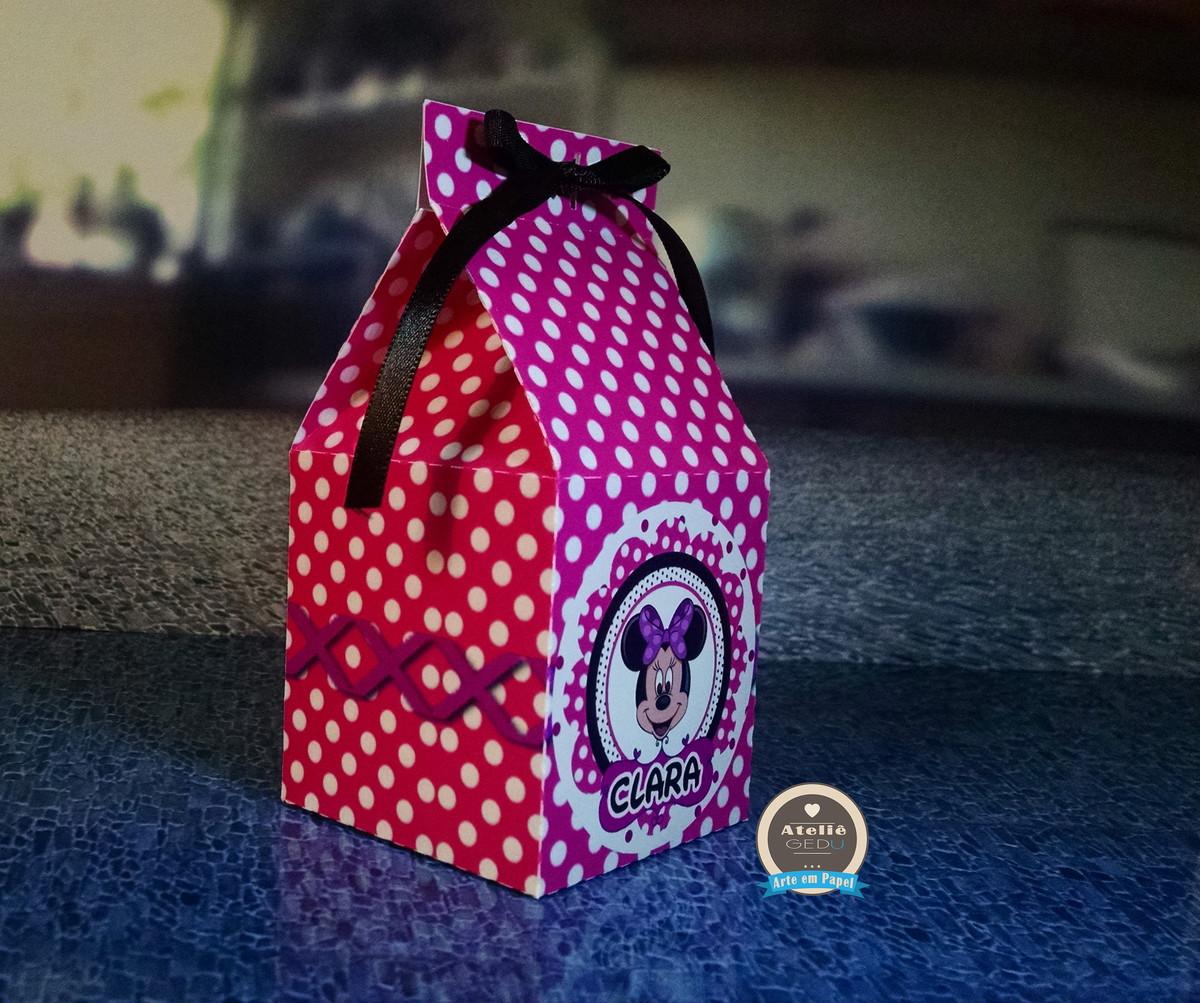 linda caixinha surpresa minnie milk kit festa linda caixinha surpresa