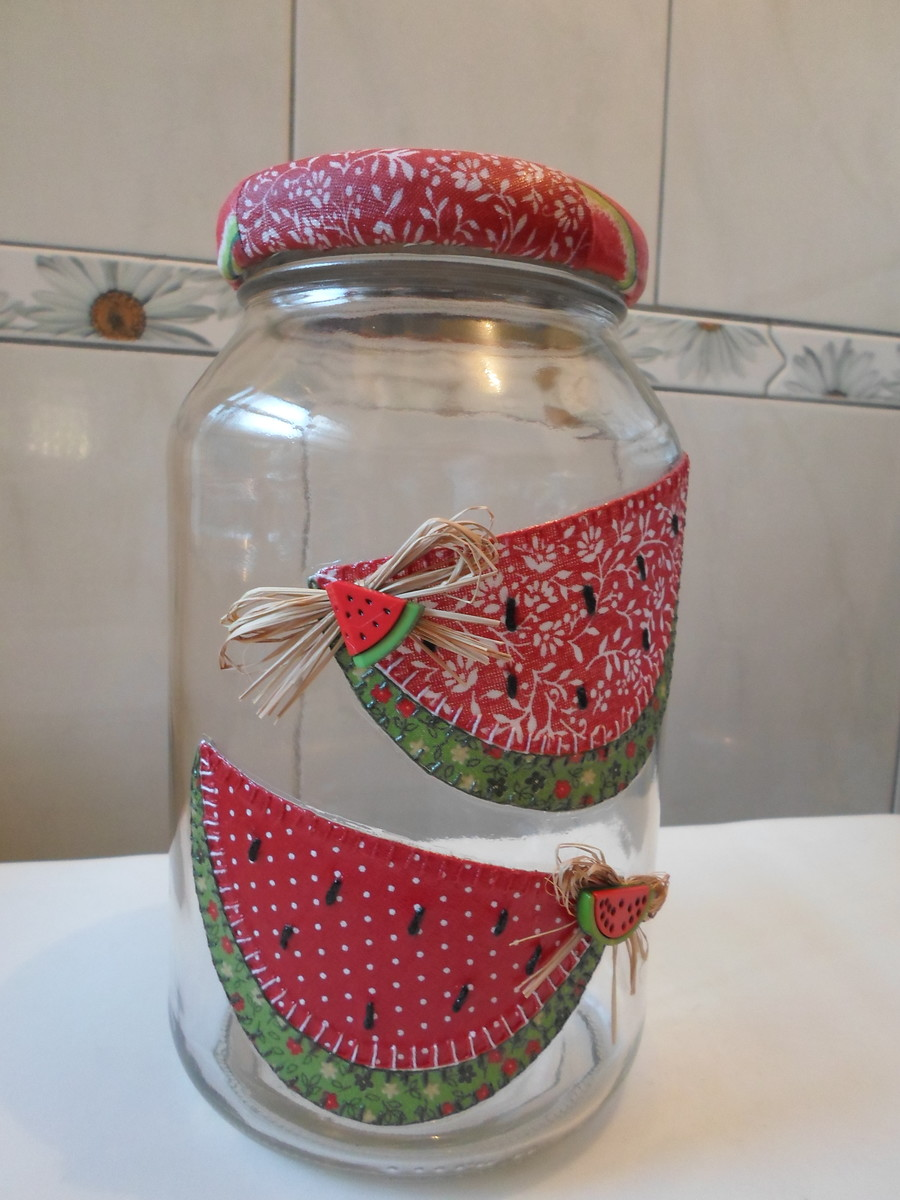 Armario Baño Con Espejo ~ Pote de vidro patchwork em tecido Artesanatos da Amanda Elo7