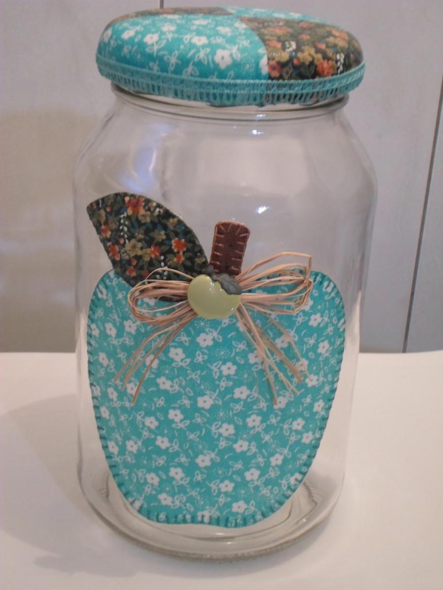 Armario Baño Con Espejo ~ Pote de vidro patchwork em tecido no Elo7 Artesanatos da Amanda (4FB8AF)