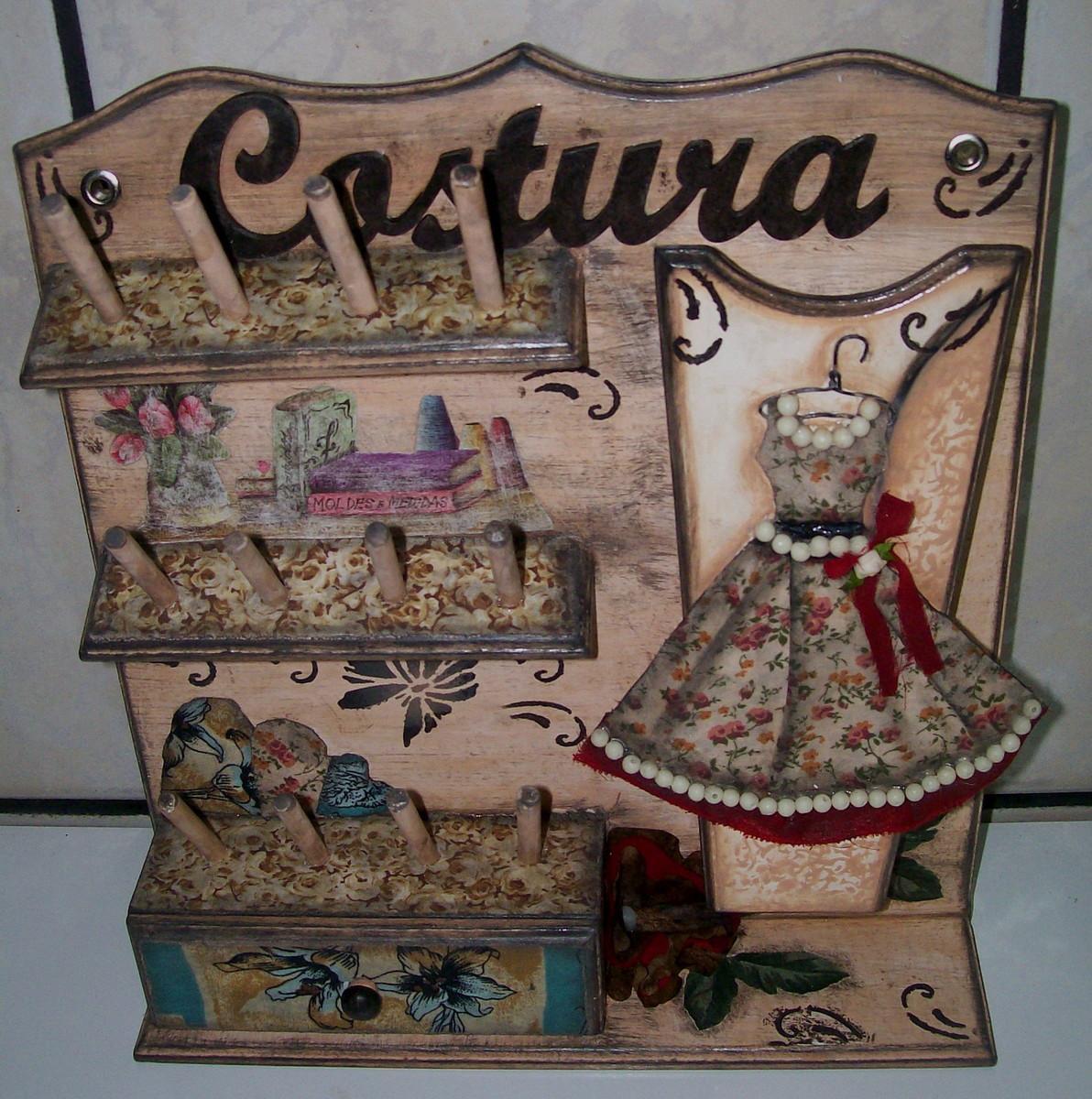 suporte costura vestido vintage no elo7 ello brilho arte em madeira 4fcf29. Black Bedroom Furniture Sets. Home Design Ideas