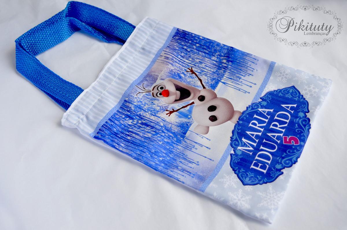 Bolsa De Tecido Frozen : Sacola de tecido frozen pikituty lembran?as elo