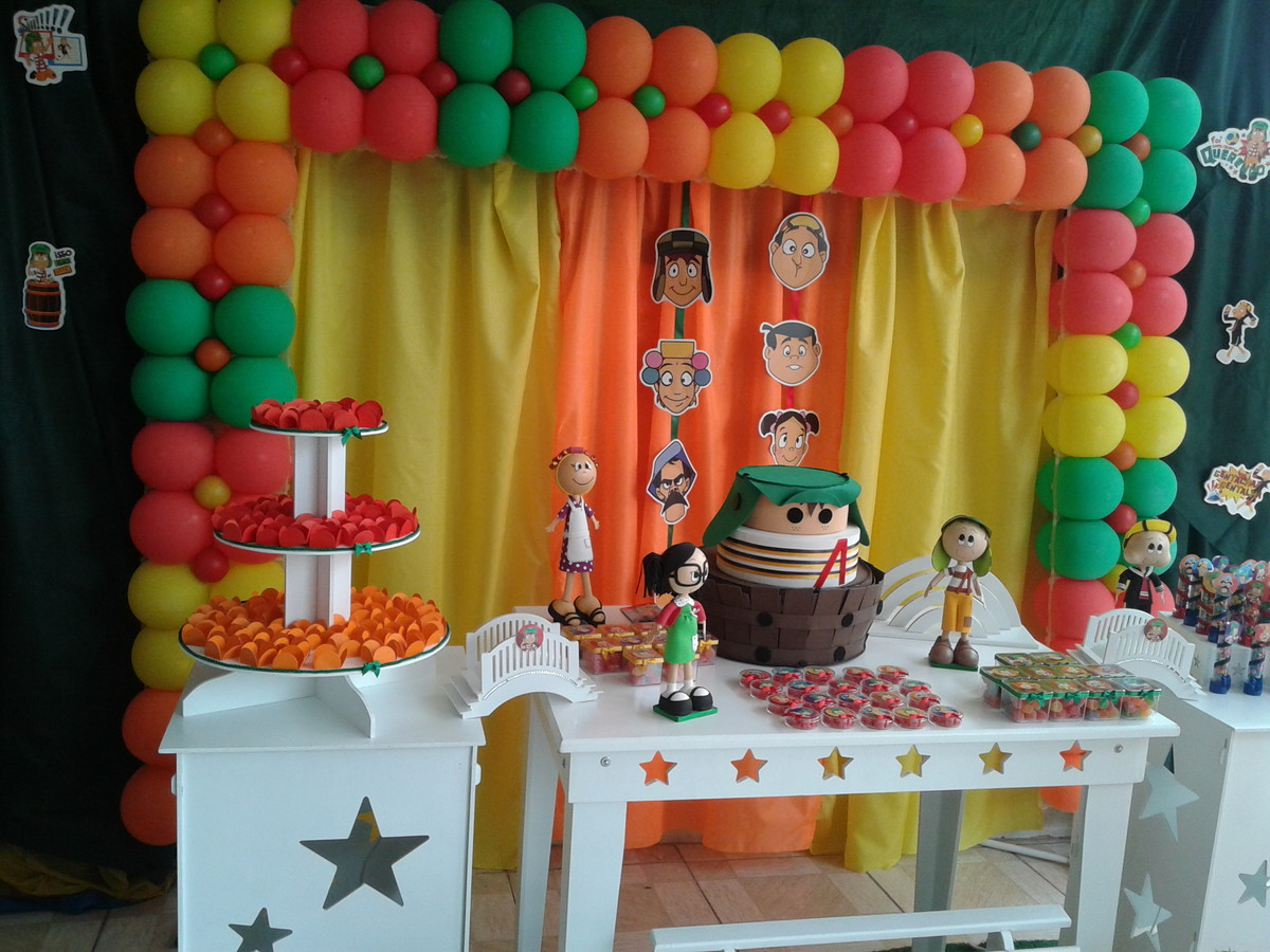 do chaves aniversario festa turma do chaves decoracao festa turma do