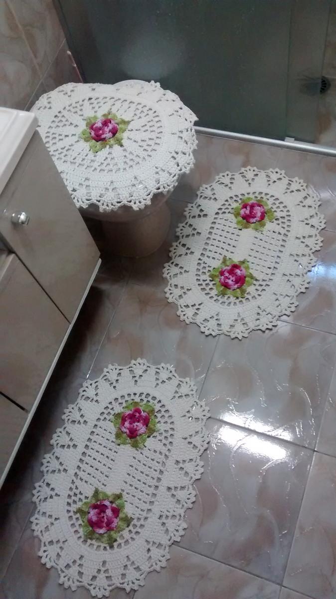 Tapete Floral Para Banheiro : -tapetes-para-banheiro-em-croche-banheiro conjunto-tapetes-para