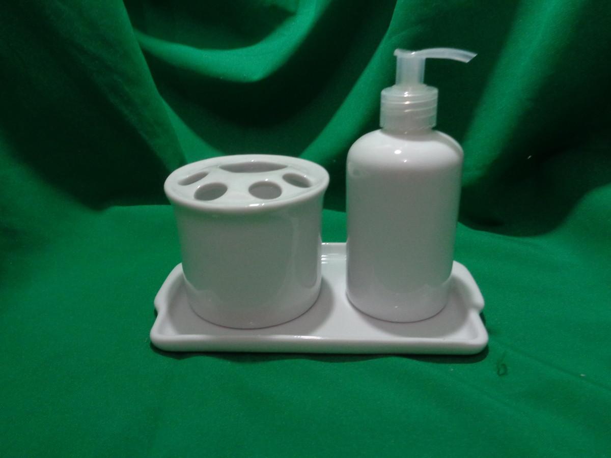 Higiene Para Banheiro : Kit lavabo e banheiro porcelana branca gato feliz mdf elo