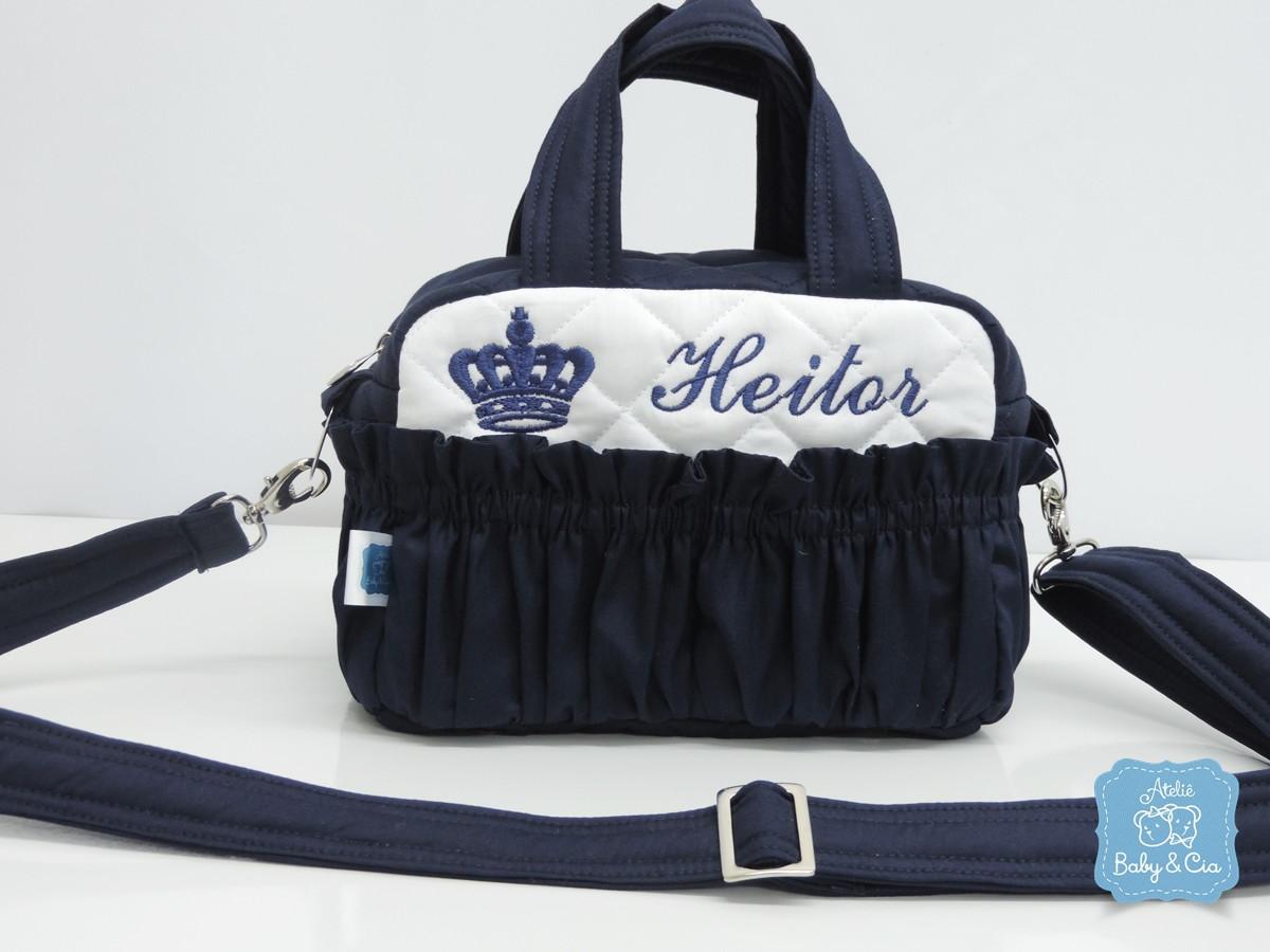 Bolsa De Festa Azul Marinho : Kit bolsas maternidade azul marinho ateli? baby cia elo