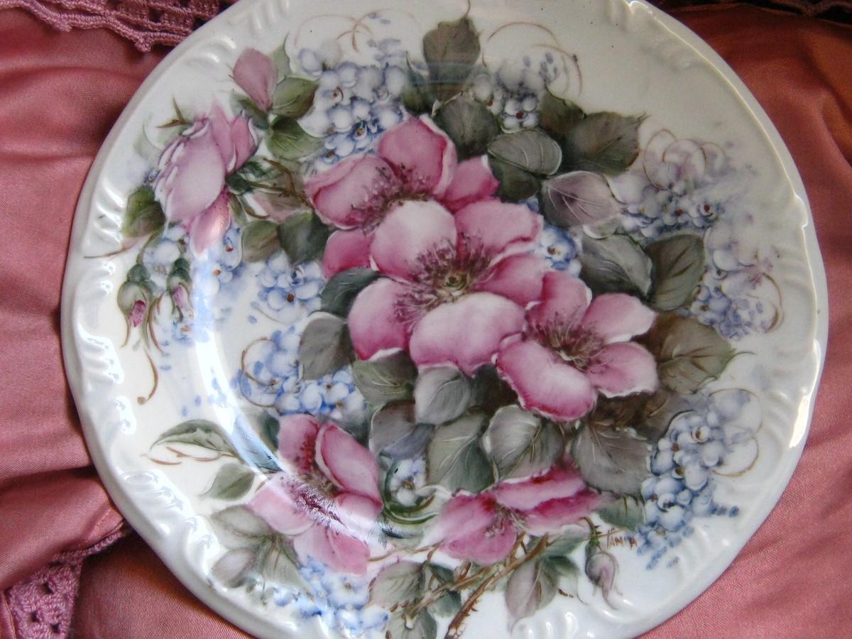 pintado de porcelana prato porcelana para parede prato pintado de  #73383A 1200x900