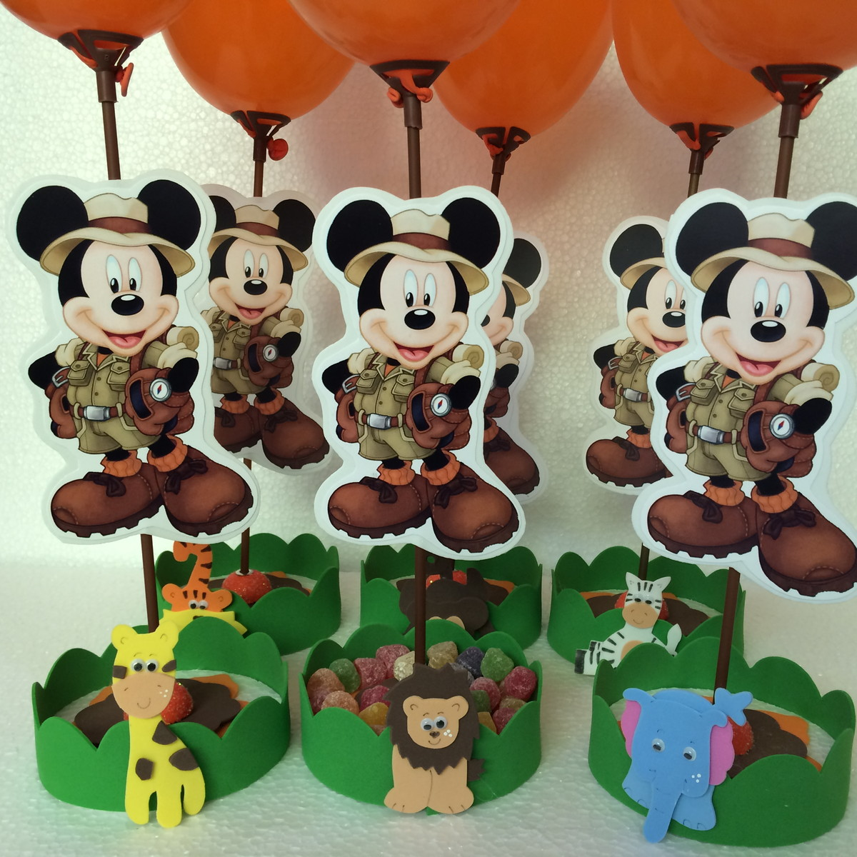 Mickey Safari Enfeite De Mesa Safari Mickey Safari Enfeite De Mesa