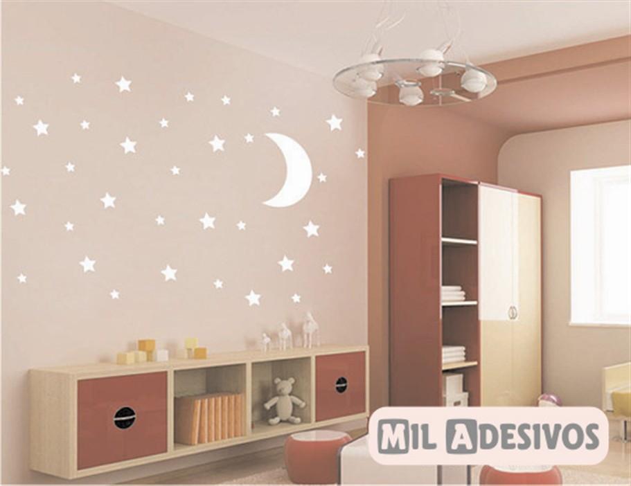 Armario De Cozinha Pequeno E Barato ~ Adesivo de parede estrelas e lua no Elo7 Paredes