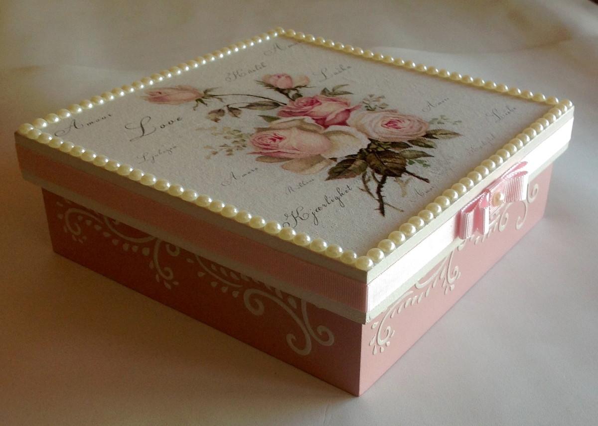 caixa decorada em mdf flores rosas porta joia caixa decorada em mdf  #48250E 1200x855
