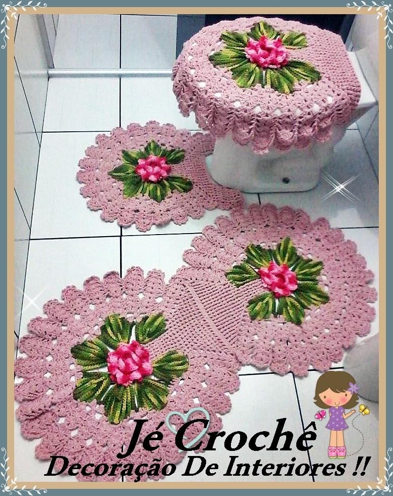 jogos de decoracao de interiores de casas: jogo-de-banheiro-3-pecas-flor-pink-jogo-de-banehiro jogo-de-banheiro-3
