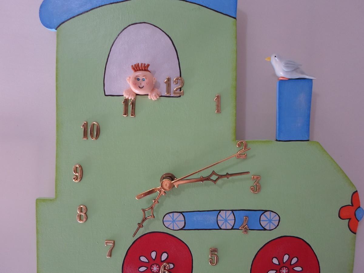 Armario Fruteira ~ Relógio de parede infantil Artesanatos da Amanda Elo7