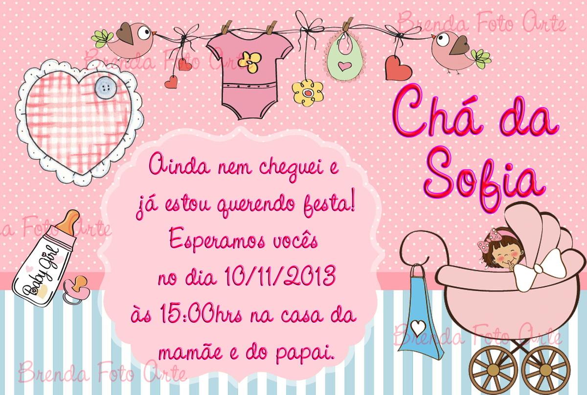 Convite Cha De Bebe Meninajpg