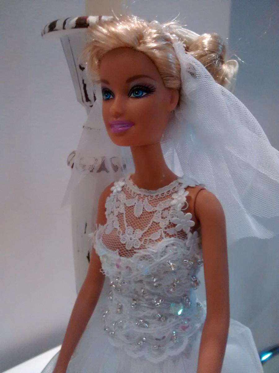 Barbie Noiva ~ Boneca Noiva Barbie com vestido branco Luigi Fashion Dolls Elo7