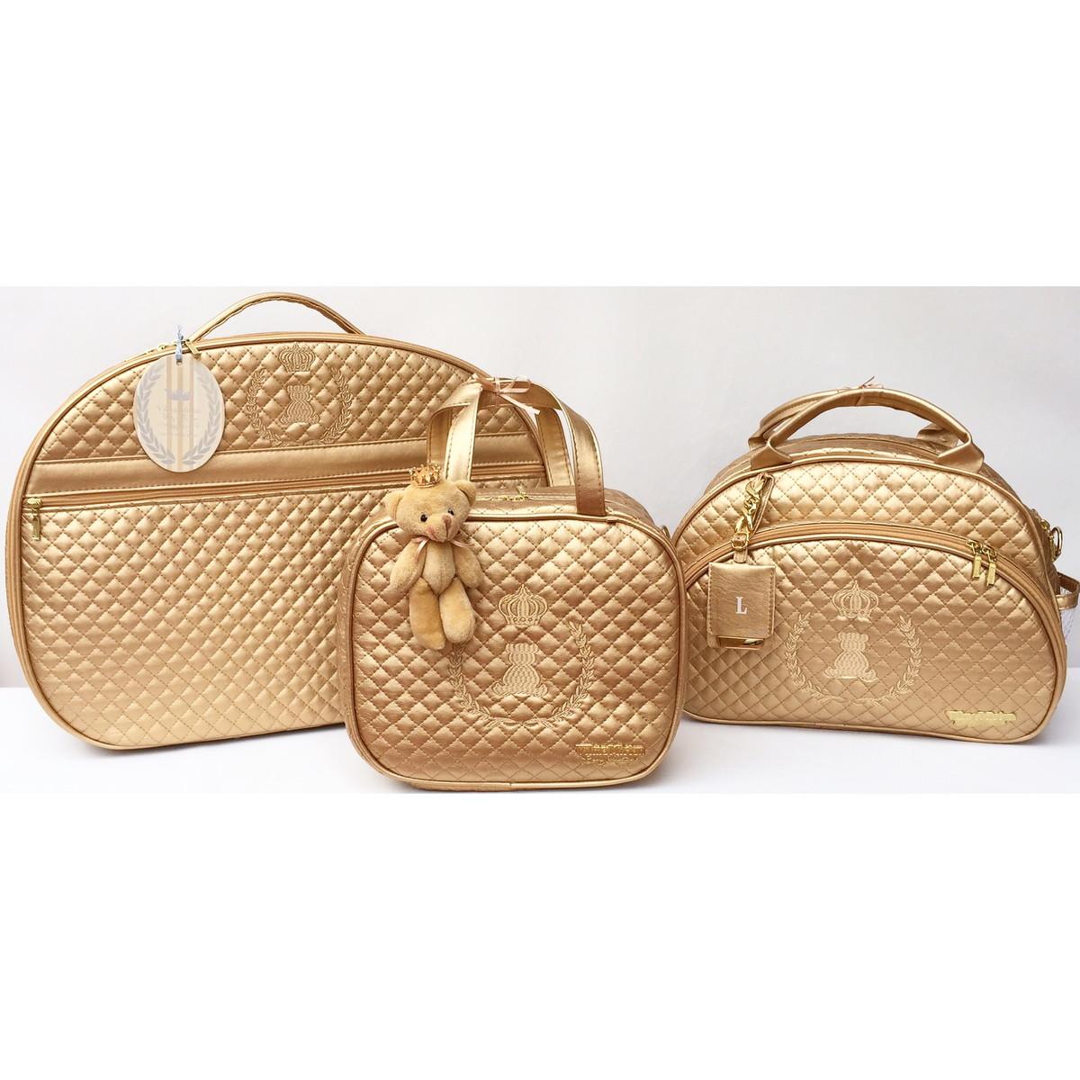 Bolsa Dourada De Maternidade : Bolsa maternidade master luxo ouro vilma mirian baby